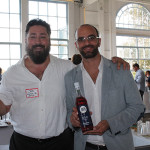 Joe Landolfi, Brand Manager, Opici's Market Street Spirits with Matteo Meletti, fifth-generation family owner of Meletti Brands.