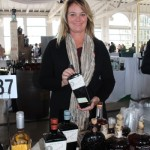 Lisa Harlow of Rebatch Beverage with Uncle Val's gin.