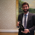 Ben Mayer, Division Manager, Hartley & Parker with Whitehall Lane Cabernet Sauvignon.