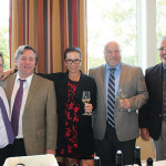 Jeffrey Vanderber, Regional Director New England, Justin Landmark Vineyards; Bill Saroka, Wine Director, Hartley & Parker; Lisa Strausser, New England Sales Manager, Kermit Lynch Wine Merchant; Doug Preston, Hartley & Parker; Steve Fanelli, Key Account Manager, Hartley & Parker.