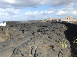 Cart tracks in Basalt lava from 15th century in Pico.