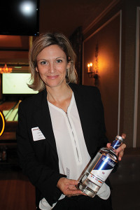 Fanny Duval of 180 East Limited with Hawthorn's London Dry Gin.
