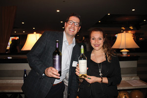 Garrett Fardelmann, E. & J. Gallo with Tatiana Nessier, Brand Ambassador, Alamos Wines.