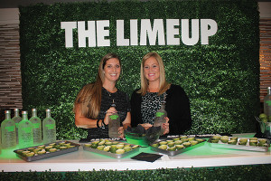 Pernod Ricard's Jackie Blau and Heather Godsell with Absolut Lime.