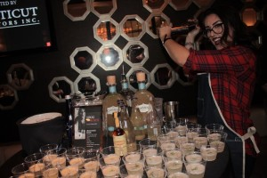 Nikki Simches, Bar Manager, Cure Restaurant during the cocktail competition.
