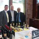 Will Longo, Zone Manager, Brescome Barton; David Barzottini, Regional Manager, Deutsch Family Wine & Spirits; Dipak Patel, Sales, Brescome Barton.