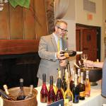 Ed Dunn of Brescome Barton pouring a taste of Ruffino Prosecco for a trade guest.