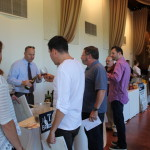 Trade guests during the fall wine show.