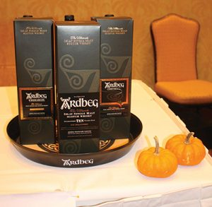 Glenmorangie Scotch Whiskey on display.