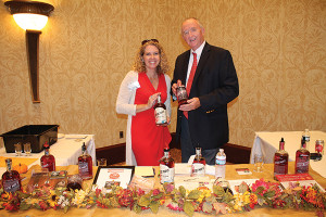 Charlene Leinonen and Mike Stacy with Clyde May's Whiskey.