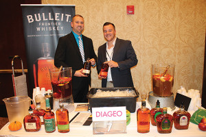 Kyle Grudzien, Marketing Services Manager, Rhode Island Distributing Co. with Tim Boynton, On-Premise Diageo, Rhode Island Distributing Co.