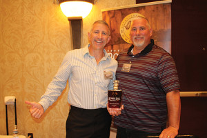 Carl Brown, CEO, Kra-ze LLC with Kevin Clang, President and Co-founder, Kra-ze LLC with Bower Hill Kentucky Bourbon Whiskey.