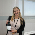 Lindsay Scalise, WSET II, Connecticut State Manager, Bronco Wine Company with Garnet Pinot Noir.