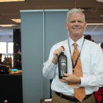 Kevin Shea of Fetzer with 1000 Stories wine.