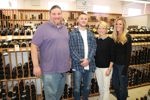 Mike Berry, Beer Manager; Tyler McLaughlin, Customer Service Manager; Patti McGreen, Owner; and Jackie Forsythe, Store Manager.
