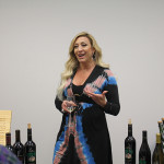 Liza Gallia, NE Regional Sales Manager, Frank Family Vineyards, leading a discussion on the wines.