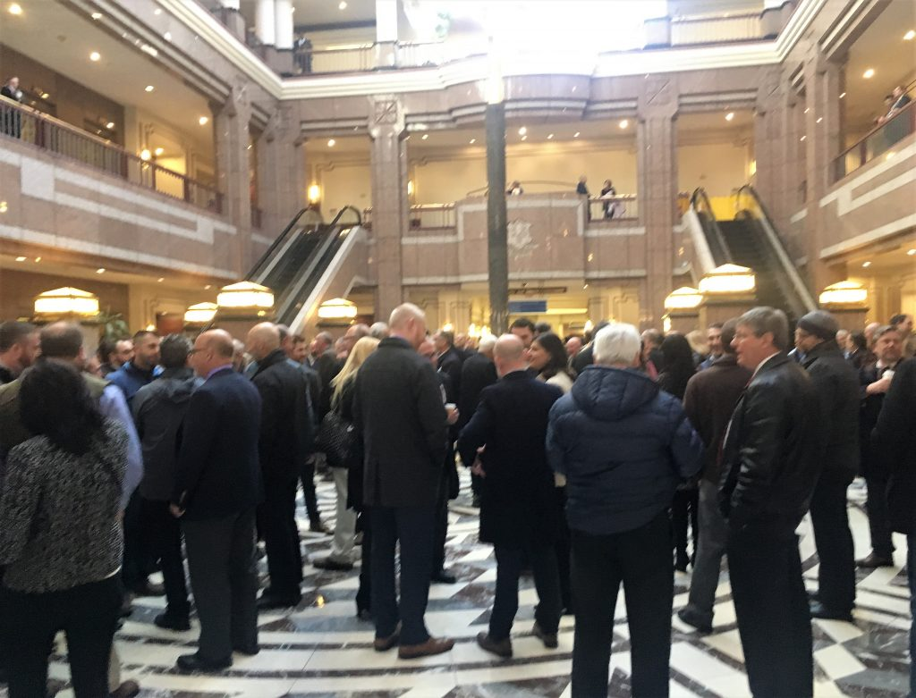 Connecticut beverage trade gathered at the Legislative Office Building in Hartford on February 28, 2019.