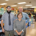 Christian Iezzi beside Terri Audet and Jim Iezzi.