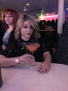 "Jessie Diaz and the Sazon Y Mambos ""Passion Martini."""