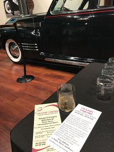 Newport's Vickers' Liquors hosted the bourbon tasting at Newport's Audrain Auto Museum.