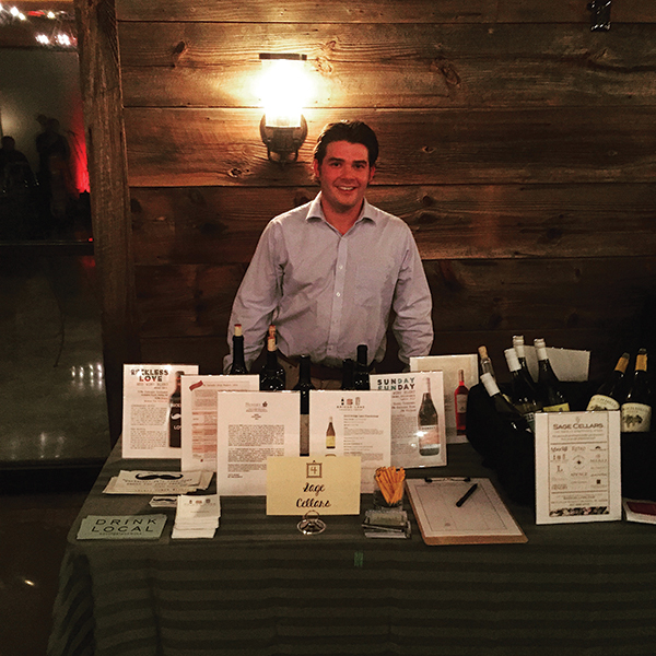 Sage Cellars' Nick Sampson at the grand tasting.