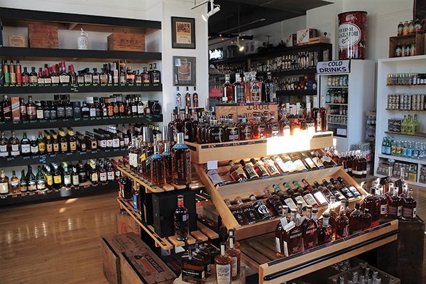 Inside Universal Package Store in Mystic.