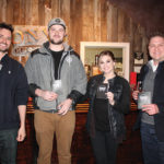 Pete Kowalczyk, Co-founder, Onyx Spirits Company; Sean Piel of Cold Creek Brewing; Laura Rinaldi, Cold Creek Brewing; Adam von Gootkin, Co-founder, Onyx Spirits Company. Cold Creek Brewing was named the 2016 Secret Stash Beer Bash winner.