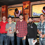 Dennis Rochford, Regional Brand Manager, Hotel California Tequila; Christtian Quezada, Second Place; Sam Coelho, First Place Winner; Dimitrios Zahariadis, Chapter President, USBG CT; and Joe Aceto, Third Place.