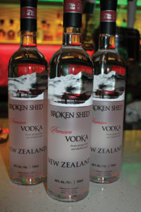 "New Zealand's Broken Shed Vodka is distilled from whey, which is the excess sugar in milk production. It is then distilled four times from two distinct water sources. The vodka is GMO-free and gluten-free with a ""smooth taste and hints of sweetness."""