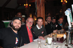 Judges and guests during the event: Nick Gordiano, Event Judge and USBG CT member; Restauranteur David Palombo, Event Judge; Restauranteur David Gorrie, Event Judge; Adam Patrick, Event Judge and USBG CT Chapter President; Carl Summa, Event Judge and USBG CT member; Daniel Rek, USBG CT Secretary.