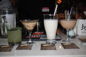 Broken Shed cocktails on display.
