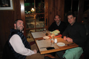 Mike Tobin, Worldwide Wines; Justin Miller, Worldwide Wines; and Ian Merriss, Massanois Imports.