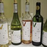 The Vivendo Calyptra lineup: 2014 Reserve Sauvignon Blanc, 2014 Reserve Chardonnay, 2015 Reserve Rosé, 2010 Reserve Assemblage (88% Syrah and 12% Cabernet Sauvignon) and 2012 Reserve Pinot Noir. The Vivendo wines greeted guests upon entrance.