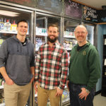 Jeff Routhier, Store Employee; Dan Vuono, Store Owner; andRyan Hellert, Store Manager.