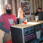Nathanial Taylor, Brewer, Bucket Brewery and Justine Bucci of Bucket Brewery.