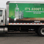 A CDI truck showcasing Absolut Lime.
