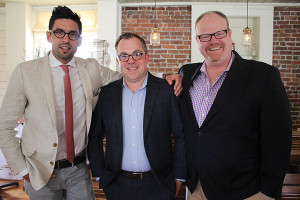 Noah King-Smith, Key Account and Spirits Manager, Slocum & Sons; Alex Meier-Tomkins, Key Account Manager and Spirits Director, Slocum & Sons; Paul Burne, Key Account Manager, Slocum & Sons.
