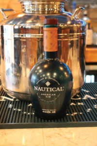 Nautical Gin on the bar.
