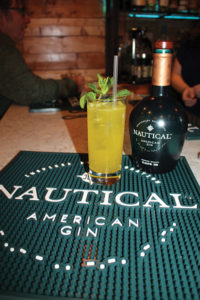 A Nautical Gin cocktail created by Roger Gross featuring flavors of mint and turmeric.