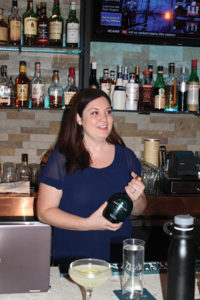 Erin Henning, On-Premise Key Account Manager, Vertical Spirits, presented the brand.