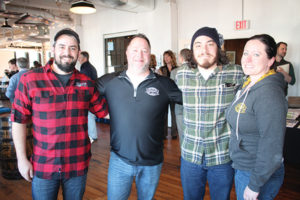 All of Two Roads Brewing Company: Jamie Proulx, Dan Zeek, Jared Emerling and Caitlin Guelakis.