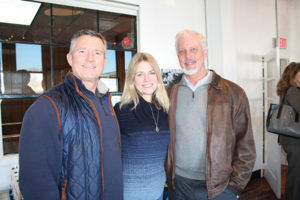 Jeff Wilson, Wines and More! of Milford; Maureen Abrahamson, Mo's Wines and Spirits in Fairfield; and Patrick Monteleone of Harry's Wine & Liquor Market in Fairfield.