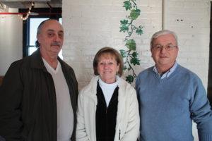 Angelo and Linda Borgia of Linda's Liquors and Wine in Shelton and Curt Hopkins of Super Saver Spirits in Shelton.