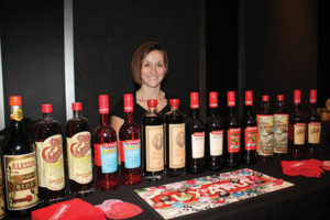 Anchor Distillery Company's Kelly McCarthy with Luxardo products.