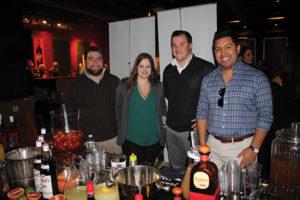 Jared Iannelli, Providence Beverage Company; Amanda Fullal, Los Andes Restaurant; Tim Boyton, Providence Beverage Company; and Pablo Grave, Los Andes Restaurant.