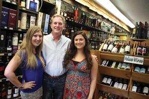 Kellei Coolbeth, store manager, Mark Howland, owner, Alexa Zane, store employee