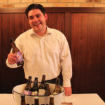 Nick Sampson, Sales Associate, pouring Italian beers from Birrificio Rurale and Birrificio Maiella breweries.