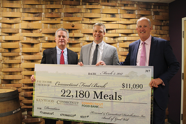 Steve Baye, Vice President of Business Management, CDI; Michael Davidow, Corporate Development Manager, Connecticut Food Bank; and John Parke, President and CEO, CDI.