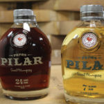 Papa Pilar Dark and Blonde Rum. The spirit is aged and blended in a unique process using American oak bourbon barrels, port wine casks (dark only), and Spanish sherry casks.