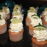 Lime cupcakes were served.